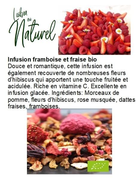 Infusion framboise et fraise bio (50gr - 100gr)