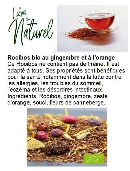 Rooibos bio au gingembre et à l'orange (50gr - 100gr)