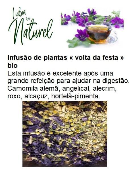 Infusão de plantas bio «volta da festa» (50gr - 100gr)