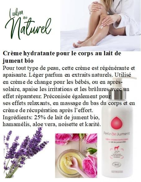 Crème hydratante pour le corps au lait de jument bio, 200 ml
