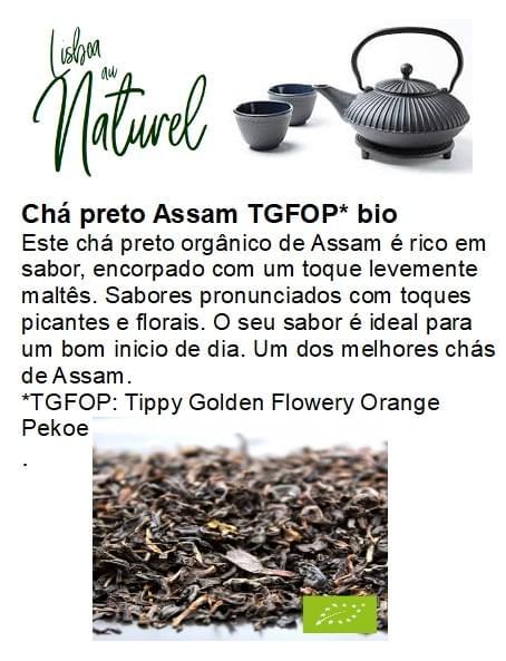 Assam TGFOP chá preto bio (50gr - 100gr)