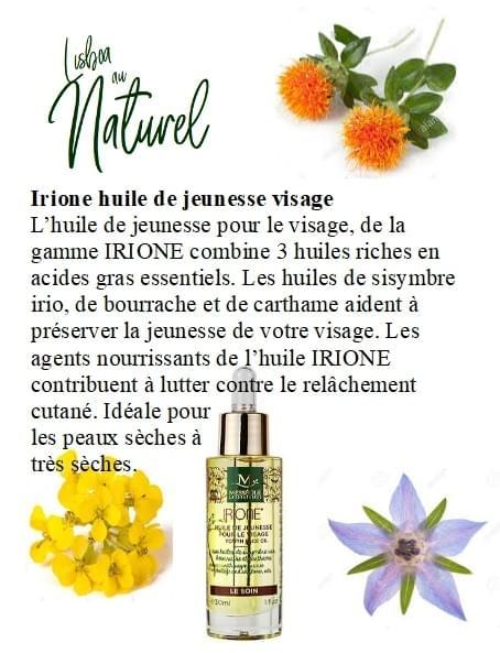 Huile de jeunesse pour le visage Irione, 30 ml