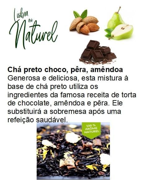 Chá preto de chocolate, pêra, amêndoa (50gr - 100gr)