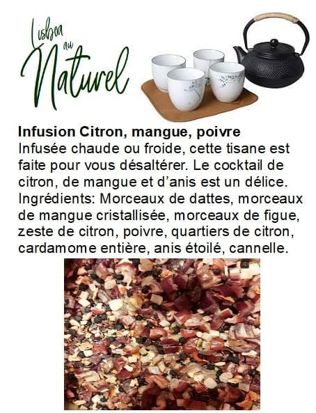 Infusion citron, mangue, poivre (50gr - 100gr)