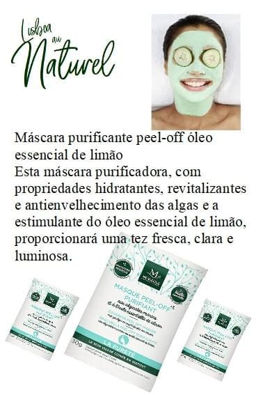 Máscara purificante peel-off óleo essencial de limão, 30 g