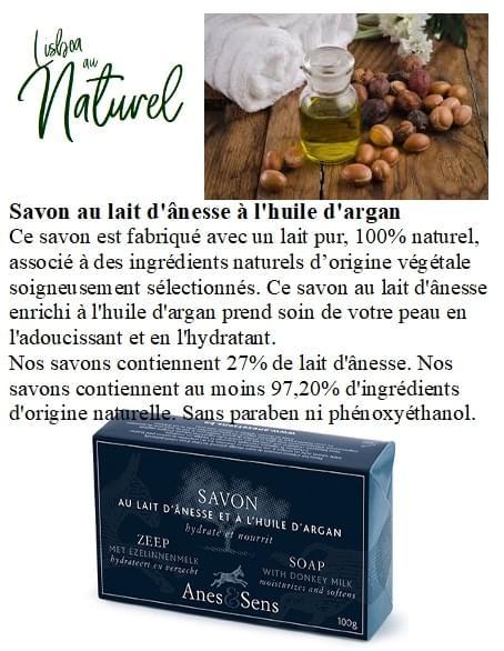 Savon au lait d'ânesse à l'huile d'argan, 100 g