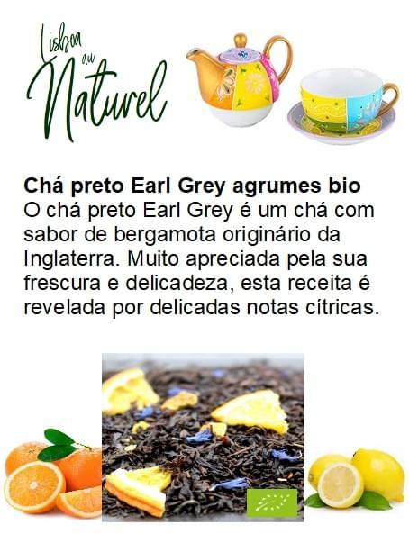 Chá preto Earl Grey citrinos bio  (50gr - 100gr)