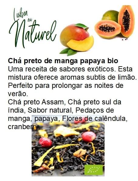 Chá preto de manga e papaia bio (50gr - 100gr)