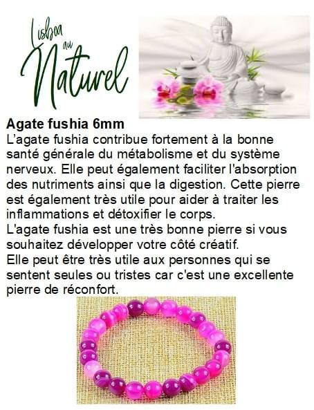 Agate fushia 6mm