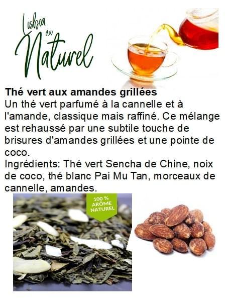 Thé vert aux amandes grillées (50gr - 100gr)