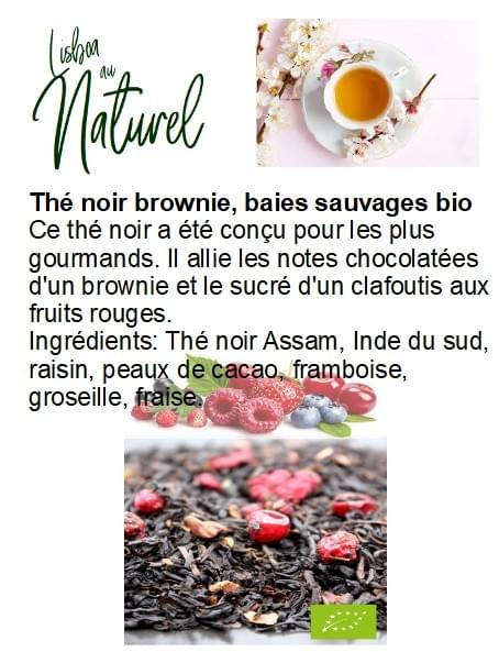 Thé noir brownie, baies sauvages bio (50gr - 100gr)