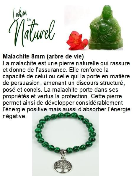Malachite 8mm (arbre de vie)