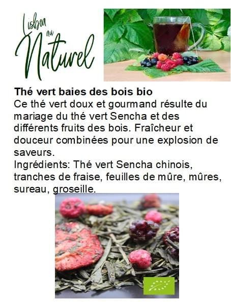 Thé vert baies des bois bio (50gr - 100gr)