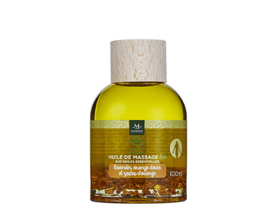 Huile de massage bio lavandin et orange douce, 100 ml