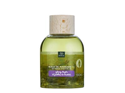 Huile de massage bio ylang, thym et verveine, 100 ml