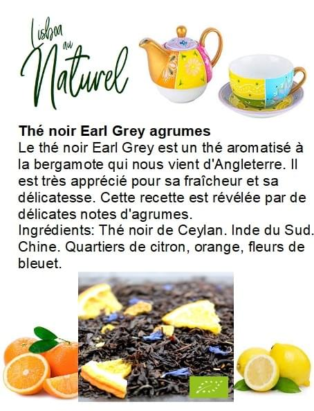 Thé noir Earl Grey agrumes bio (50gr - 100gr)