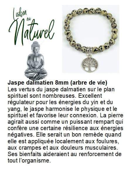 Jaspe dalmatien 8mm (arbre de vie)