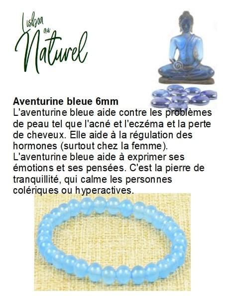 Aventurine bleue 6mm