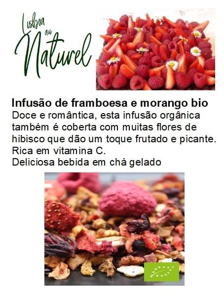 Infusão de framboesa e morango bio (50gr - 100gr)