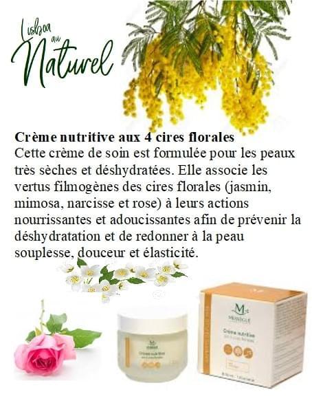 Crème nutritive aux 4 cires florales, 50 ml