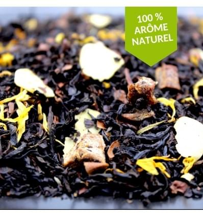 Thé noir, choco, poire, amande (50gr - 100gr)