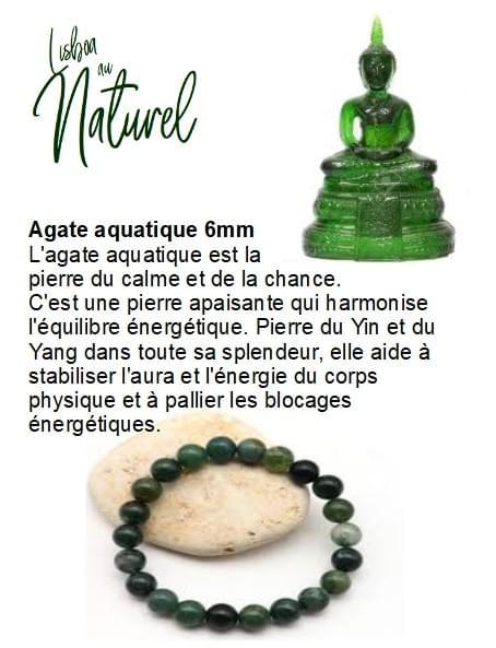 Agate aquatique 6mm