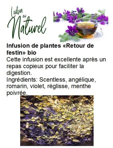 Infusion de plantes bio «Retour de festin» (50gr - 100gr)