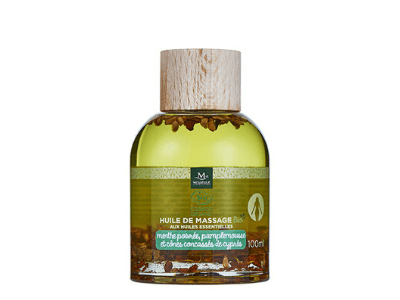 Huile de massage bio menthe poivrée et pamplemousse, 100 ml