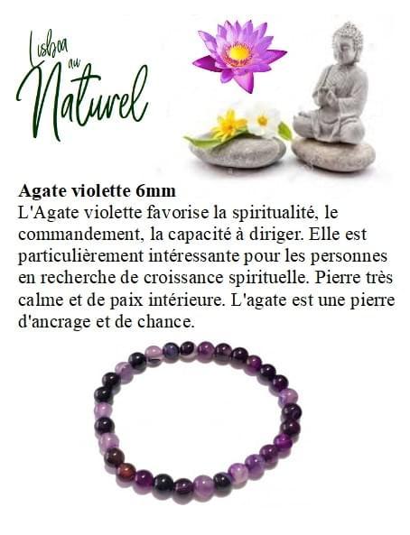 Agate violette 6mm