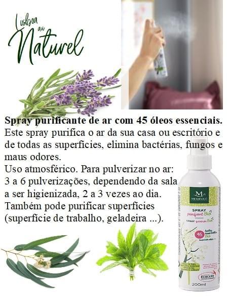 Spray purificante de ar com 45 óleos essenciais, 200 ml