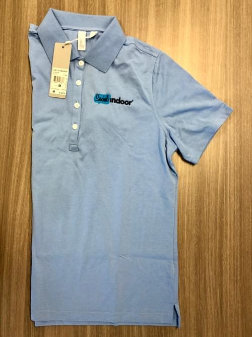 Ashworth Apparel | Women's Cotton Sky Blue Polo (SALE!)