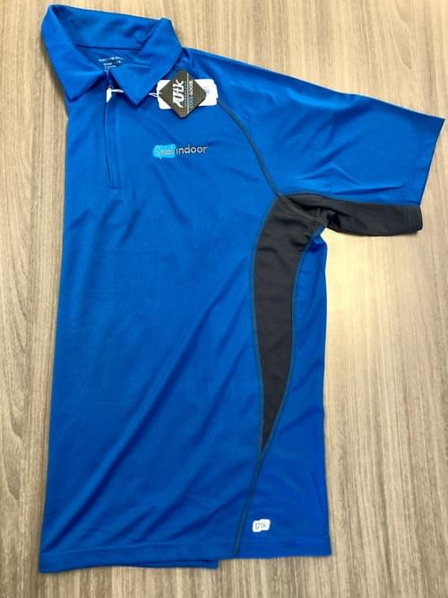 North End Sport | Men's Cobalt Blue Quarter Zip Polo  (XXL ONLY!)