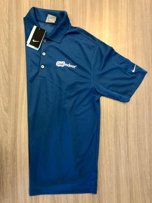 Nike | Men's Navy Blue Polo (One Small)