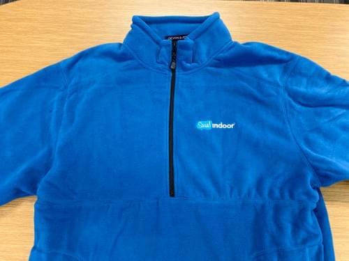 Devon & Jones | Unisex Royal Blue Half Zip Micro Fleece (HIGH DEMAND ITEM!)