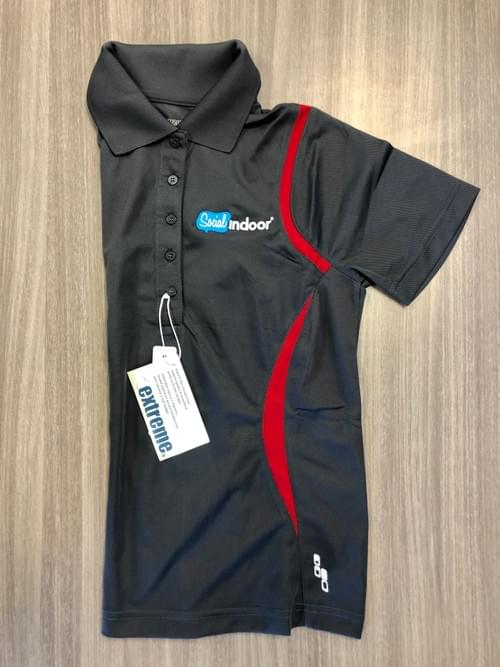 Extreme Apparel | Women's Grey w/ Red Accents Polo
