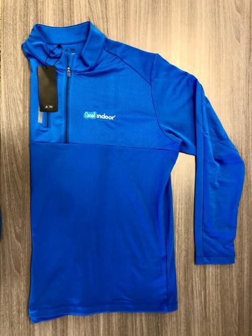 Adidas   Cobalt Blue Quarter Zip Pull Over