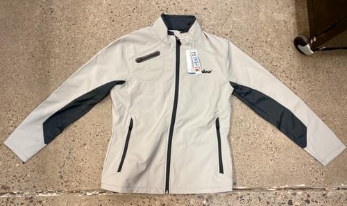 North End Sport | Women's Light Grey Zip Up Jacket w/ Black Accents