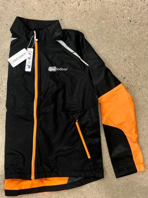 North End Sport | Men's Black & Orange Windbreaker (XL ONLY!)