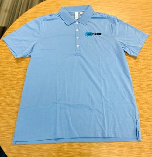 Ashworth Apparel | Women's Cotton Sky Blue Polo (SALE!)