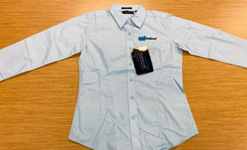 Ultra Club | Women's Baby Blue Button-Up Polo
