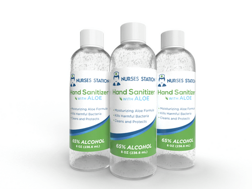 8oz Everyday Formula (Case of 24)  65% Alcohol with Aloe Hand Sanitizer