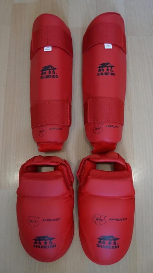 腳脛 (紅色) (WKF Kumite比賽專用)