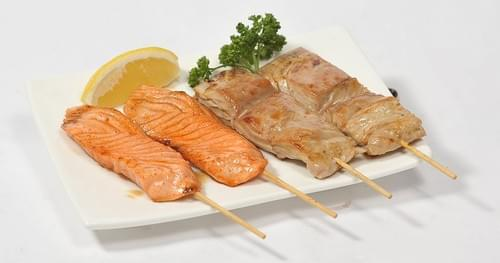 Menu B4 - 4 brochettes thon et saumon