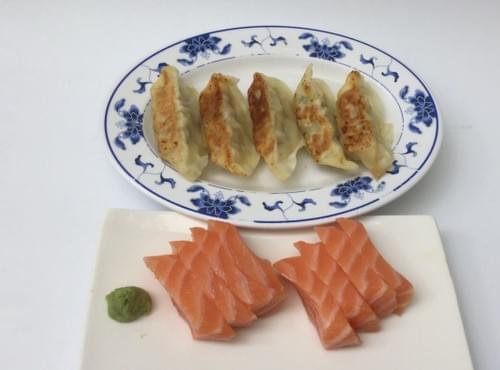 Menu R2 - Raviolis et sashimi