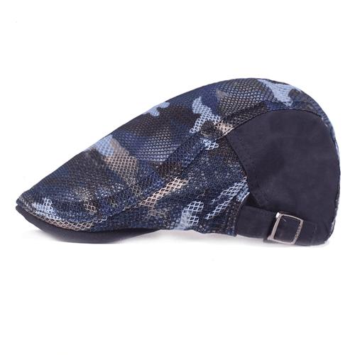 Beret Cap- Camo Blue