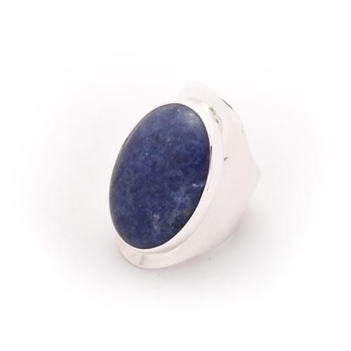 Lazúrkő gyűrű (lapis lazuli), oldalt nyitott (Cikkszám: 41023)