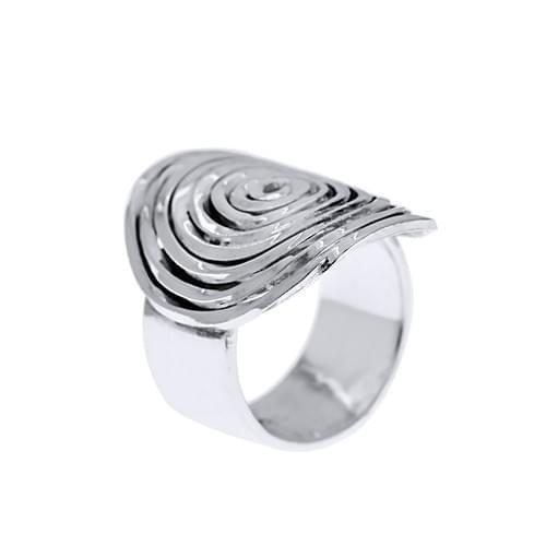Spirál, kalapált gyűrű