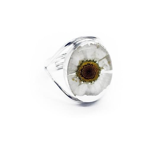 Margarétás dupla sínes gyűrű (Cikkszám: 41065)