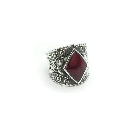 Mintázott, antikolt gyűrű  (Cikkszám: 41048)