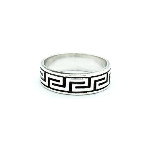 Meander görög mintás gyűrű